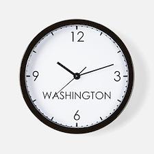 WASHINGTON World Clock Wall Clock