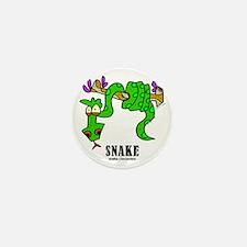 Cartoon Snake by Lorenzo Mini Button