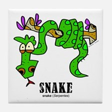 Cartoon Snake by Lorenzo Tile Coaster