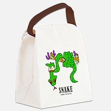 Cartoon Snake by Lorenzo Canvas Lunch Bag
