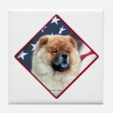 Chow Flag 2 Tile Coaster