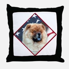Chow Flag 2 Throw Pillow