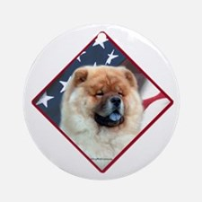 Chow Flag 2 Ornament (Round)