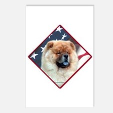 Chow Flag 2 Postcards (Package of 8)