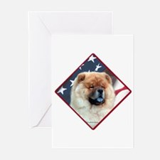 Chow Flag 2 Greeting Cards (Pk of 10)