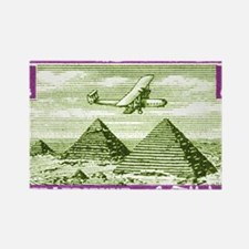 1933 Egypt Airplane Over Pyramids Rectangle Magnet