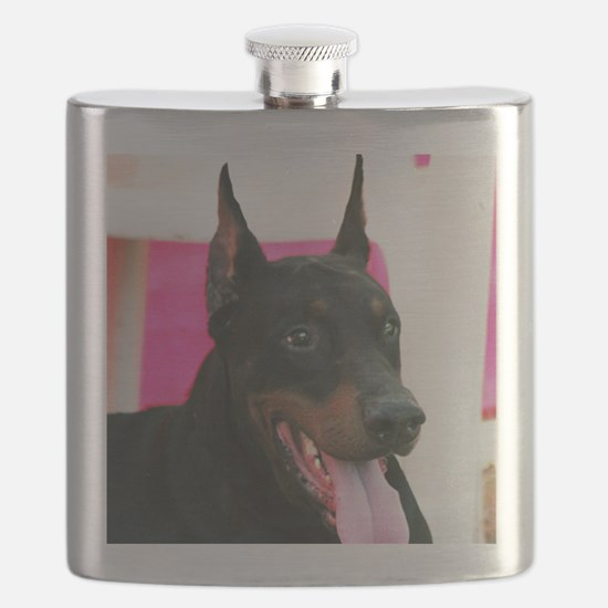 Doberman Pinscher Dog Flask