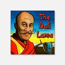 "Dali Lama Square Sticker 3"" x 3"""