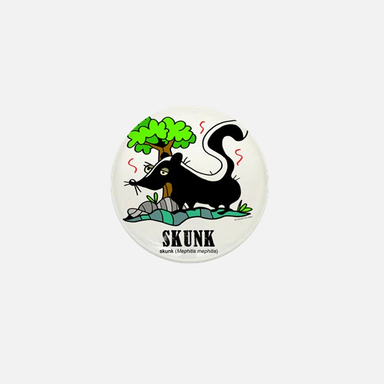 Cartoon Skunk by Lorenzo Mini Button