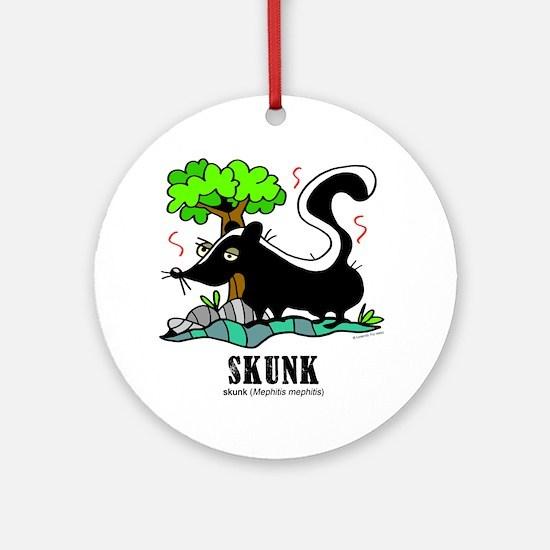 Cartoon Skunk by Lorenzo Round Ornament
