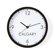 CALGARY World Clock Wall Clock