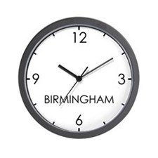 BIRMINGHAM World Clock Wall Clock