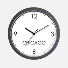CHICAGO World Clock Wall Clock