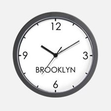 BROOKLYN World Clock Wall Clock