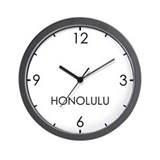 Honolulu time zone Basic Clocks