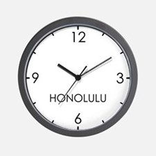 HONOLULU World Clock Wall Clock