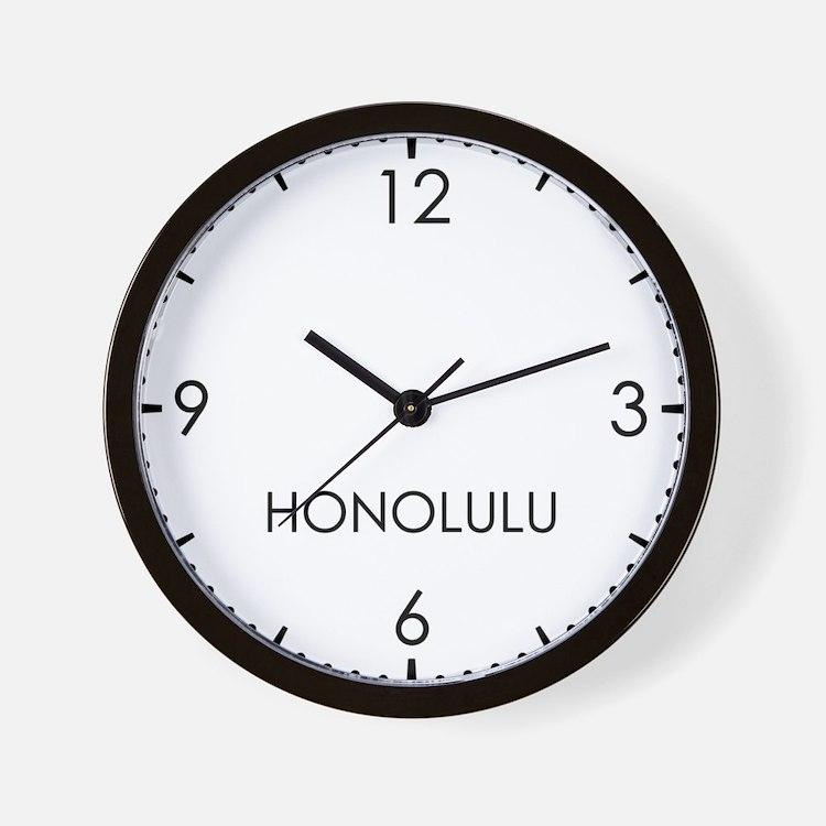 HONOLULU World Clock Wall Clock