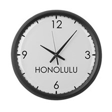 HONOLULU World Clock Large Wall Clock