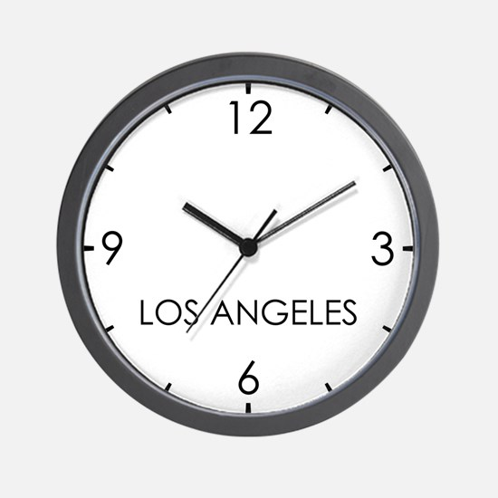 LOS ANGELES World Clock Wall Clock