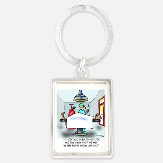 Say, Arent You The Inspector ... Portrait Keychain