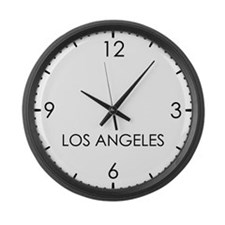 LOS ANGELES World Clock Large Wall Clock