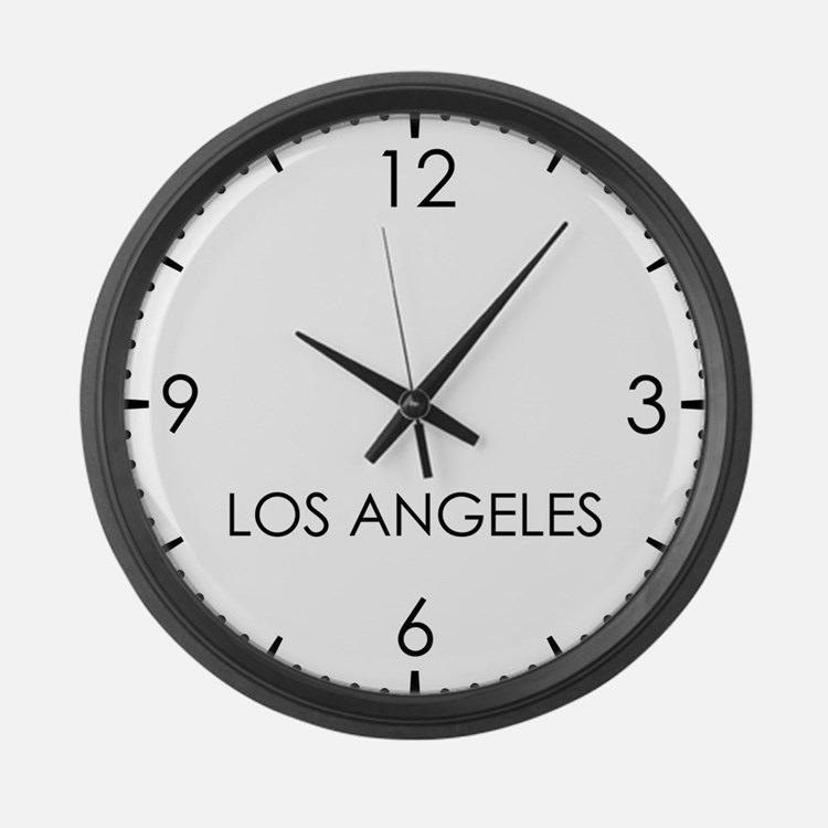 LOS ANGELES World Clock Large Wall Clock