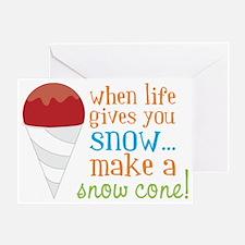 Make A Snow Cone Greeting Card