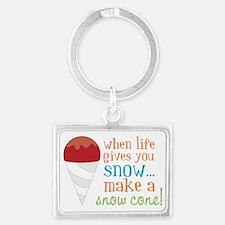 Make A Snow Cone Landscape Keychain