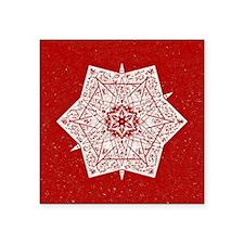 """Attractive Red Star Design Square Sticker 3"""" x 3"""""""