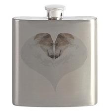 ZoiHeartNaturalDryBrushCutout Flask