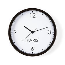PARIS World Clock Wall Clock