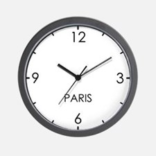 PARIS World Clock Wall Clock