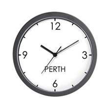 PERTH World Clock Wall Clock