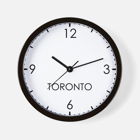 TORONTO World Clock Wall Clock