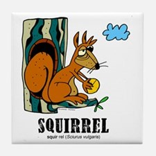 Cartoon Squirrel by Lorenzo Tile Coaster