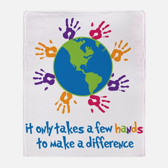 Make A Difference Throw Blanket