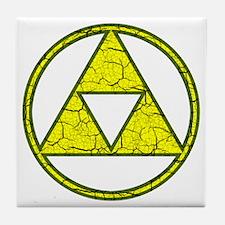 Aged Triangle Shirt Tile Coaster