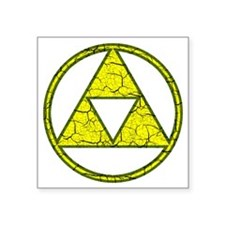 "Aged Triangle Shirt Square Sticker 3"" x 3"""