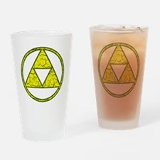 Aged Triangle Shirt Drinking Glass
