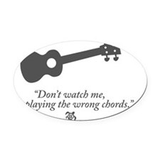 Wrong Chord Oval Car Magnet