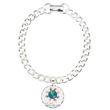 Small Hands Charm Bracelet, One Charm