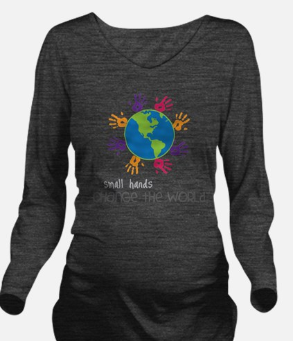 Small Hands Long Sleeve Maternity T-Shirt