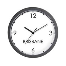 BRISBANE World Clock Wall Clock