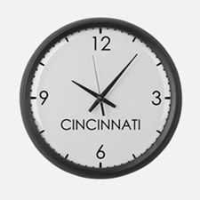 CINCINNATI World Clock Large Wall Clock