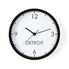 DETROIT World Clock Wall Clock