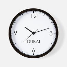 DUBAI World Clock Wall Clock