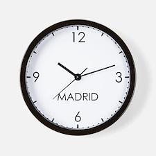MADRID World Clock Wall Clock