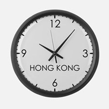 HONG KONG World Clock Large Wall Clock