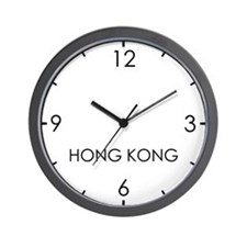 HONG KONG World Clock Wall Clock