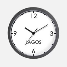 LAGOS World Clock Wall Clock